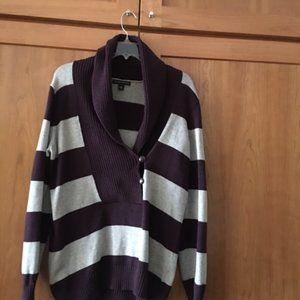 Purple and Gray Banana Republic Sweater Size L